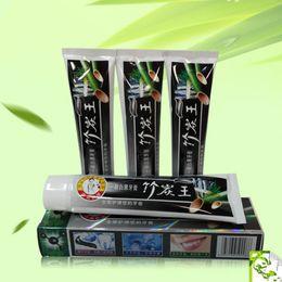 2019 creme dental de carvão de bambu Carvão Vegetal Creme Dental Branqueamento Toothpaste Carvão Vegetal de Bambu Dente Branqueamento Dentes Branqueador Produtos de Higiene Oral Suprimentos 105g creme dental de carvão de bambu barato