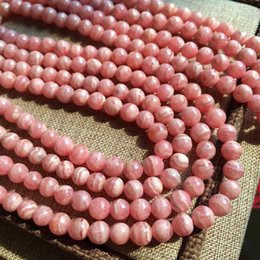 Wholesale Natural Rhodochrosite Beads - DIY Gemstone Loose Beads For making Necklace or Bracelets Natural Round Rhodochrosite stone Loose Beads