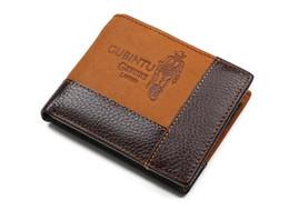 Wholesale Luxury Leather Portfolios - Vintage Retro Men Real Leather Luxury Brand Genuine Leather Men Wallets Coin Pocket Zipper Leather Wallet with Coin Purse portfolio