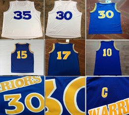 Wholesale Champions Basketball Jerseys - 2017 Hot Sale Stephen Curry Kevin Durant Finals champion White Jersey Mullin Hardaway Sprewell Throwback Blue Jerseys