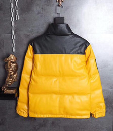 Wholesale Men S Winter Fashion Trends - Fashion Brand Cooperation Nuptse Leather Down Jackets 17FW T X Nuptse Jacket Windproof Thick Outerwear Trend Winter Coat
