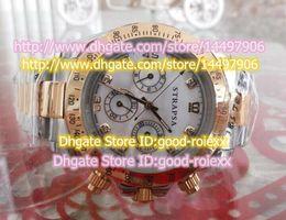 Wholesale Alloy Pearl Crystal Bracelet - 5 Style Luxury Brand Men's Mechanical Watches Mens Black Pvd Mother Pearl Diamond Rose Gold Steel Bracelet Watch Men Sports Wristwatches