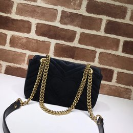 Wholesale Bags Free Delivery - Hot selling fashion brand Velvet Marmont 22cm women handbag high quality leather love shoulder bag free delivery
