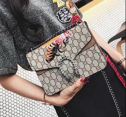 Wholesale Handbag Metallic - Hot Sale Fashion Women Embroidered little bees Bags High Quality handbag Shoulder Bag Chain Messenger bag