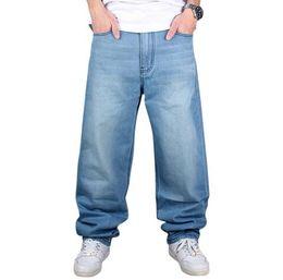 Wholesale Harem Pants Plaid Man - 2017 Brand Men Baggy Jeans Big Size Mens Hip Hop Jeans Long Loose Fashion Skateboard Relaxed Fit Jeans Mens Harem Pants