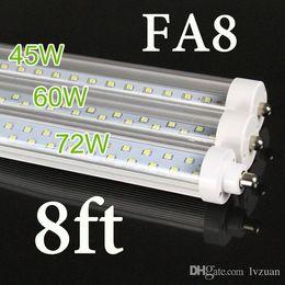 Wholesale T8 Lights Discounted - BIG DISCOUNT ! US STOCK, + 8 feet led 8ft single pin t8 FA8 Single Pin LED Tube Lights 45W 4800Lm 8ft LED Fluorescent Tube Lamps AC85-265V
