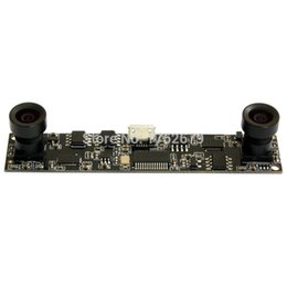 Wholesale Dual Ccd Cctv Camera - 1280*720 MJPEG 30fps dual lens usb camera module HD CMOS OV9712 Video micro CCTV pcb camera board for electronic equipment
