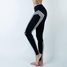 Wholesale Punk Leggins - Wholesale- High Waist Women Fitness Leggins Sexy Slim Sporting Leggings Top Quality Black Plus Size Punk Trousers 2016 New Arrival