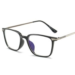 Wholesale Wholesale Brand Optical - Wholesale- Black Computer Glasses With Clear Lens Optical Reading Eyeglasses Protection Eyewear Brand Glasses Frame TR90 Titanium Women Men