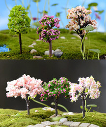 Wholesale Tree Pots Wholesale - 9pcs Variation Mini Tree Plant Junly Moss Gnome Miniature Fairy Garden Home Lawn Terrarium Moss Pot Resin crafts Jardin Decor