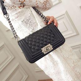 Wholesale Cell Phone Wallet Leather - 2017 Vintage Handbags Women bags Designer handbags wallets for women fashion sheepskin leather chain bag shoulder bags