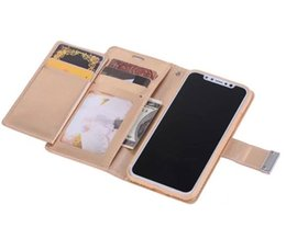 Wholesale iphone mercury cover - fashion mercury magnetic diary wallet card multi-function leather case cover skin for iPhone 8 new luxury case