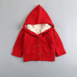 Wholesale Cardigan Sweater Outerwear Children - Knitwear Toddler Sweater Girls Winter Sweaters Kids Sweater Chandail Warm Outerwear Thicken Warm Cardigan Children Kids Clothes
