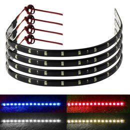 Wholesale Truck Led Strips - 4 x 30cm 15 LED Car Trucks Motor Light Strips Grill Flexible Waterproof Light Strips