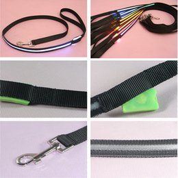 Wholesale White Cat Halloween Costume - Shipping Free Pet Dog Puppy Cat Kitten Soft Glossy Reflective Led Leash Safety Leashes Buckle Pet Supplies Products Colorful 1217