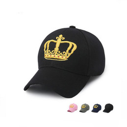 Wholesale Very Pink - Very popular Casual embroidery three-dimensional crown baseball cap male ladies golf hat hat spring cap WMB026