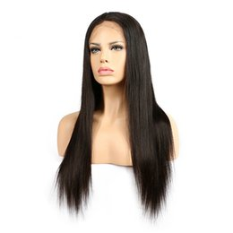 natural weave hairstyles Promo Codes - Slove Hair 360 Lace Wigs Brazilian Virgin Human Hair Weaves Human Hair Lace Wigs For Black Women Straight 150% Density
