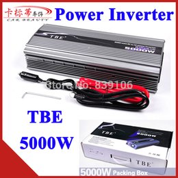 Wholesale Car Sine - Wholesale- 5000W Power Inverter DC 12V To AC 220V 5000 Watt Car Power Inverter Peak Power 10000W Converter Modified Sine Wave Freeshipping