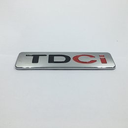 Wholesale Ford Kuga - 135*35mm Car ABS TDCI Emblem Badge Logo Lettering Sticker for Ford Mondeo Kuga S-Max CMax Diesel