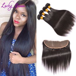 Wholesale Cheap Bundles Brazillian Hair - Spring Queens Hair Lace Frontals With Baby Hair And Bundles Cheap Full Frontal Lace Front Closures Brazillian Straight Hair