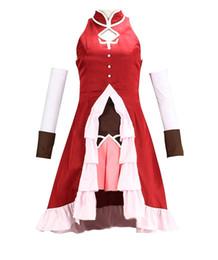 Wholesale Kyoko Sakura Cosplay - Malidaike Anime Women's Puella Magi Madoka Magica Sakura Kyoko Girls Cosplay Costume Lovely Dress