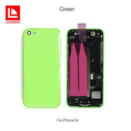 d86f84326a4 Tapa de la batería tapa del marco medio de la carcasa trasera de metal con  reemplazo de piezas de montaje para Apple iPhone 5C envío rápido gratis
