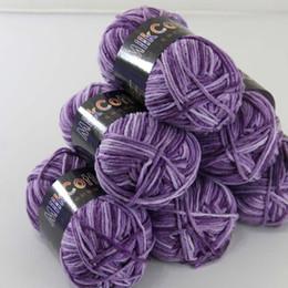 Wholesale Violet Scarves - Soft 6ballsx50g NewCotton dyed Hand Knitting Wool Socks Scarf Baby Yarn violet 06
