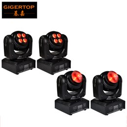 Wholesale Moving Head Light Rgbw Cree - Freeshipping 4pcs lot Unique Design Double Side Led Moving Head Light 4*10W RGBW 4in1 Wash Face+1*10W RGBW 4in1 Face Cree Led