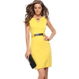 Wholesale Elegant Women Evening Dresses - Gown Empire Waist Knee-Length Sequined Elegant Casual Bodycon Pencil Evening Party Dresses Plus Size S-XXXL