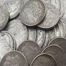 2019 diferentes fábricas Venta caliente Monedas de EE. UU. Dólares Morgan 28 Fechas diferentes 'S' Mintmark Promoción Precio de fábrica barato Hogar agradable Accesorios Monedas de plata diferentes fábricas baratos