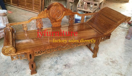 Wholesale Carving Chairs - Classical carving chaise lounge relaxed bed lay bed for rest home casual chair luxury wood home furniture 100% african rosewood JY-L001
