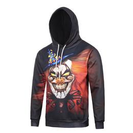 Wholesale Vintage Clown - Black Base Clown Printed Hoodies For Boys Vintage Winter Hooded Pullover Men Hoodie Sweatshirt Outwear SX-152