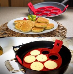Wholesale Making Pancakes - Flippin Fantastic Fast Easy Way to Make Perfect Pancakes Egg Ring Maker Nonstick Pancake Maker Baking Moulds Mold D791 20
