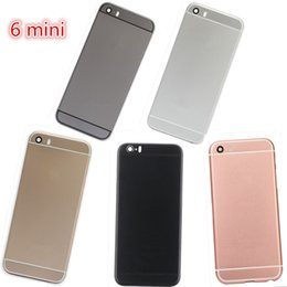 Wholesale Mini Bar House - High quality Metal Back Battery Housing Door Cover Replacement for Iphone 5 5S to Iphone 6 mini