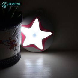 Wholesale Starfish Bedroom - Wholesale- Starfish LED Night Light motion sensor led Lamp for Bedroom Hallway Cabinet Stairwells Kitchen Closet
