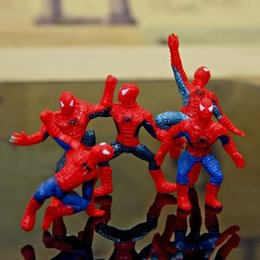 Wholesale Spider Man Set - 6Pcs   Set Spider-Man Figure The Avengers Spiderman Spider Man PVC Action Figure Toys Great Gift free shipping