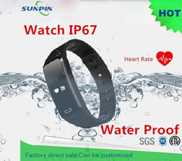 Wholesale Health Heart Rate - Wholesale-2016 Original S03H Heart Rate Monitor Smartband Waterproof Swim Smart Band Health Fitness Tracker for Android iOS pk Mi Band 2