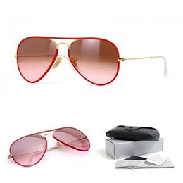 Wholesale Sunglasses Transparent Men - Top quality pilot sunglasses brands for men women wine red gradient transparent lens discoloration designer sunglasses