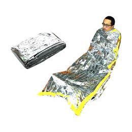 Wholesale Emergency Survival Bag - Wholesale- Outdoor Emergency sleeping foil bag Waterproof Survival Camping Reusue Thermal Sleeping Bag 1M x 2M