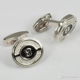Wholesale Round Green Cufflinks - Metal aigner Cufflinks 'B' copper round Sleeve Nail Men Cuff link French's Cuff Color Luxury Cufflink high quality 1 pair