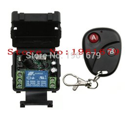 Wholesale Mini Remote Receiver Transmitter - Wholesale- DC 12 v mini wireless remote control switch 1channal Intelligent home appliance system 1X receiver+1X transmitter
