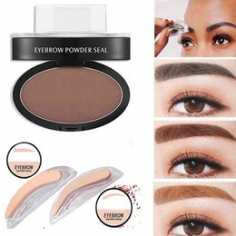 Wholesale Stamp Powder - New Long Lasting Natural Eyebrow Powder Makeup Brow Stamp Palette Delicated Shadow Definition