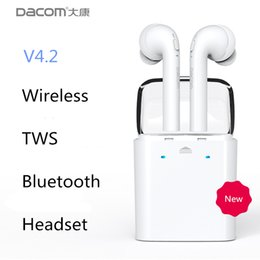 Wholesale Bluetooth Phone Dacom - Dacom original TWS wireless Bluetooth Earbuds for Apple iPhone 7 plus Headset Double Twins airpods Earphones For Android