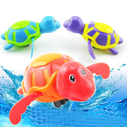 Wholesale Toys Outdoor Chain - Wholesale- Swimming Turtle Baby Bath Toys Animal Wound-up Chain Clockwork Plastic Kids Toys for Children Outdoor Toy Newborns Educational