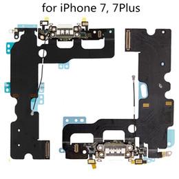 2019 microfone de substituição New USB Charger carregamento substituição Dock Connector Porto Cabo Flex para iPhone7 Para iPhone 7 Plus 7plus Telefone Acessórios Parts