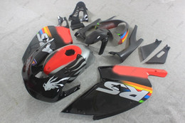 Wholesale Rs 125 - Plastic Fairings RS125 04 05 Body Kits for Aprilia RS125 02 03 Black Red ABS Fairing RS 125 01 00 2000 - 2005