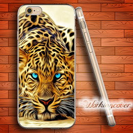 Wholesale Animal Cases For Iphone 4s - Fundas Animal Leopard Art Soft Clear TPU Case for iPhone 6 6S 7 Plus 5S SE 5 5C 4S 4 Case Silicone Cover.