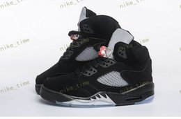 Wholesale Effect Lights - High Quality Retro 5 OG Black Metallic Men Women Basketball Shoes 3M Reflective Effect Sup 5s Sneakers size Eur 36-47 US 5.5-13