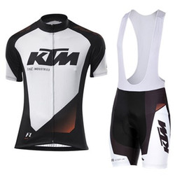 Wholesale Bike Ktm - KTM Cycling clothing and Cycling Bib Shorts Kits Breathable Bike Clothes Ropa Ciclismo Bike Jerseys Sportswear Free shipping
