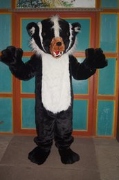 Wholesale Badger Costume - Hot Sale Cartoon Movie Character Real Pictures Meles meles Dog badger Pig badger Wolverine badger mascot costume Adult Size free shipping
